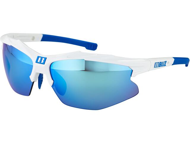 Bliz Hybrid M12 Brille white /smoke with blue multi